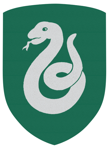 Slytherin Green and Silver Shield