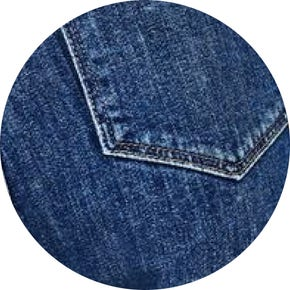 Denim fabric swatch